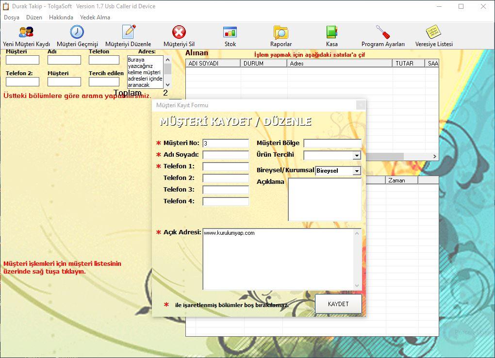 tolgasoft müşteri takip programı full